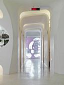 Modern white hallway