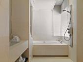 Light colored modern bathroom