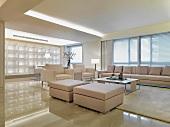 Modern monochromatic living room