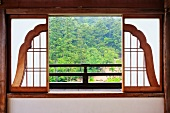 Open Bell Shaped Asian Window