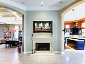 Luxury Home Fireplace and Hallway