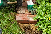 DIY flower bed edging