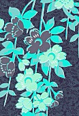 Blue tropical flowers (print)