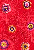 Floral firework pattern (print)