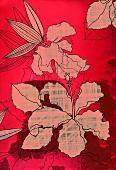 Red hibiscus design (print)