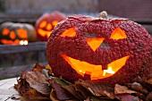 Candlelit pumpkin jack 'o' lantern