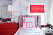 Bedroom with Pink and Red Accents