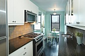 Galley Kitchen with Breakfast Nook