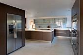 Designer kitchen in shades of brown