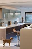 Elegant kitchen in shades of brown