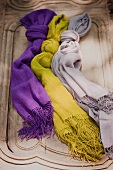 Three Scarves Made from Alpaca Wool
