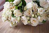 Bouquets of White Garden Roses