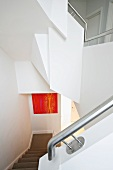 White staircase in modern architecture