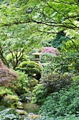 Secluded, Japanese-style park