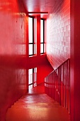 Red stairwell