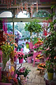 View into florist shop