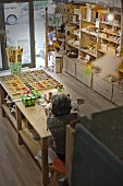Woman in craft shop