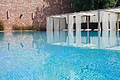 Luxurious swimming pool of Raas Haveli Hotel, Jodhpur, India