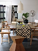 African-style dining room