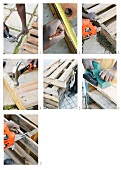 Building a potting table from wooden pallets