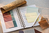 Notebook and color samples