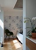 Bedroom in the Habitat 67 housing complex, Montreal, Canada