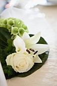 Wedding arrangement with white flowers