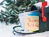 Letter to Santa Claus in mailbox