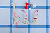 DIY tablecloth tassels