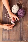 Crocheting a doily