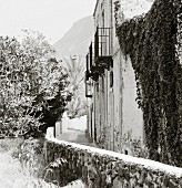 Lane of houses (Salina, Aeolian Islands, Italy)