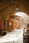 Lane of shops (Byblos, Lebanon)