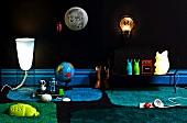 Various unusual nightlights for nurseries