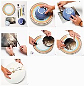 Hand-crafting a photographic, decorative plate