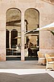 Terrace area of Hotel Cap Rocat (Palma de Mallorca, Spain)