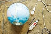 Globe and lamp socket for pendant lamp