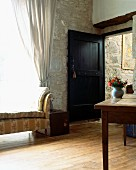 Room Entrance ina traditional french stone country house