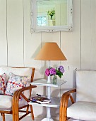Side table in country cottage