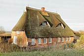 House with thatched roof (Mecklenburg-Western Pomerania, Germany)