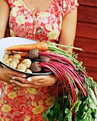 Root vegetables in a bowl.