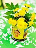 Flowers in a vase in a garden, Sweden