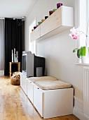 Home interior, a living room, Sweden.