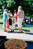 Family at picnic in park