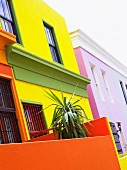 A brightly colored house, South Africa.