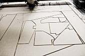 Cutting pattern for sofa upholstery