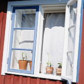 An open window, Skane, Sweden.