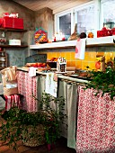 Christmas preparations in kitchen