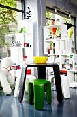 Designer occasional furniture in shop
