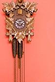 A cuckoo clock on a wall