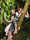 Two children sitting in a tree